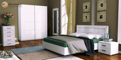 Спальня Белла Миромарк Глянец белый