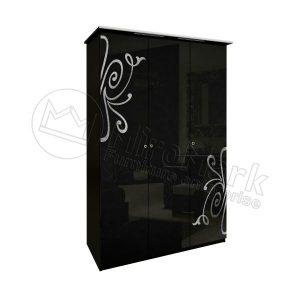 Шкаф 3 двери Богема без зеркал BG-23-BL