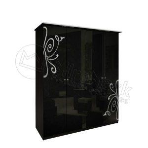 Шкаф 4 двери Богема без зеркал BG-24-BL
