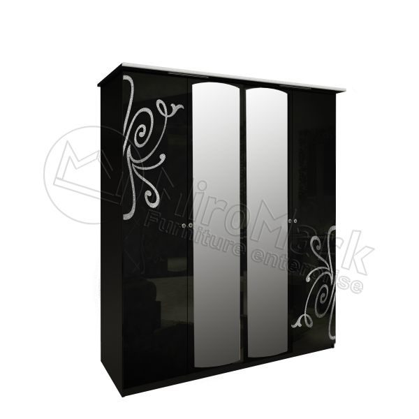 Шкаф 4 двери Богема BG-14-BL