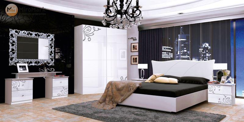 Спальня Богема Миромарк белый глянец