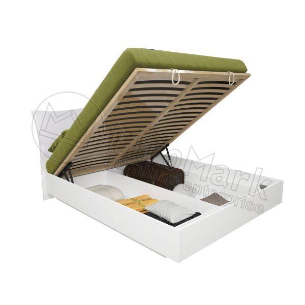 Кровать Богема 180x200, подъёмная с мягкой спинкой и каркасом BG-49-WB