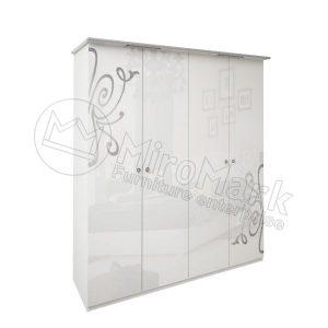 Шкаф 4 двери Богема без зеркал BG-24-WB
