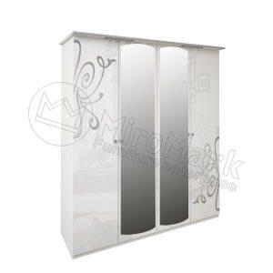 Шкаф 4 двери Богема BG-14-WB