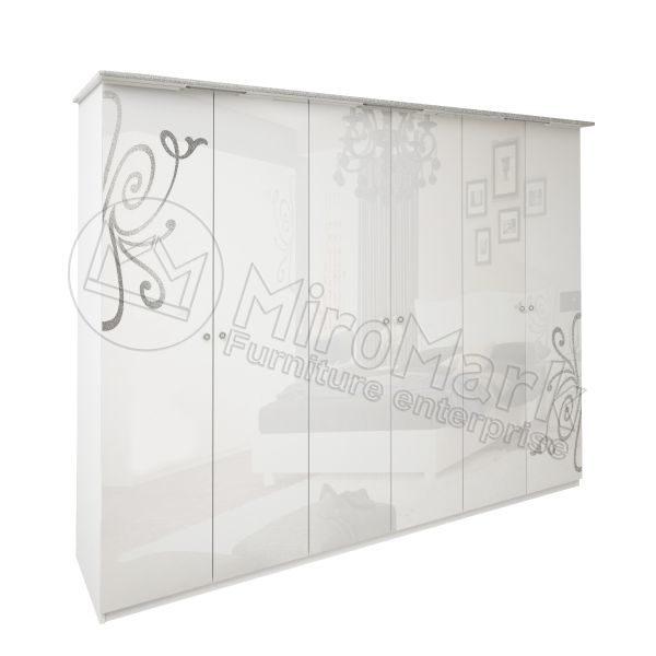 Шкаф 6 дверей Богема без зеркал BG-26-WB