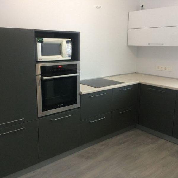 Кухня на заказ 1м (верх+низ+столешница) фасады МДФ плёнка супермат