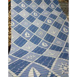 Аквамат Синий коврик-дорожка для ванной (80см)