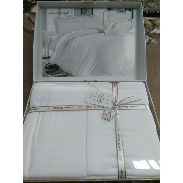 Постель Satin Lines Style Beyaz Сатин 200х220см First Choice