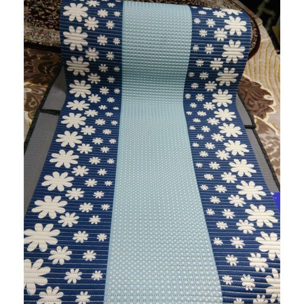 Аквамат коврик-дорожка для ванной Голубой (65см)