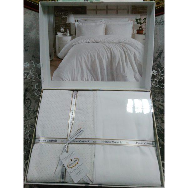 Постель Carmina Beyaz Сатин 200х220см First Choice