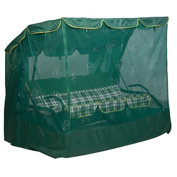 Качели садовые Фемели (Бязь, Зеленая клетка)