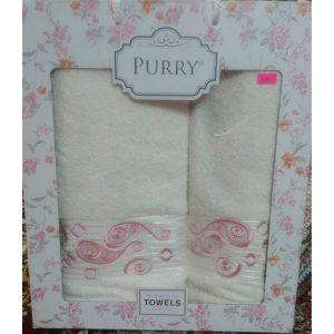 Набор махровых полотенец PURRY Cream (2шт.)