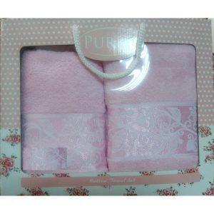 Набор махровых полотенец PURRY Pink (2шт.)