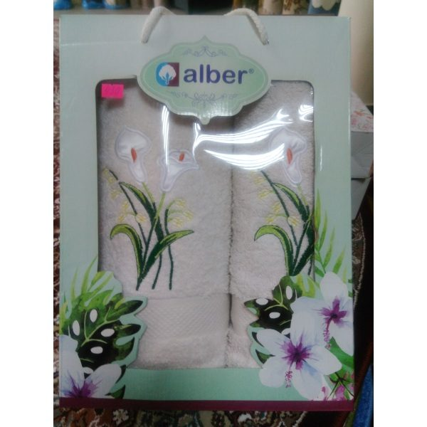 Набор махровых полотенец Alber Белые (2шт.)