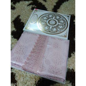 Скатерть жаккардовая Pudra с кружевом (160х220см)