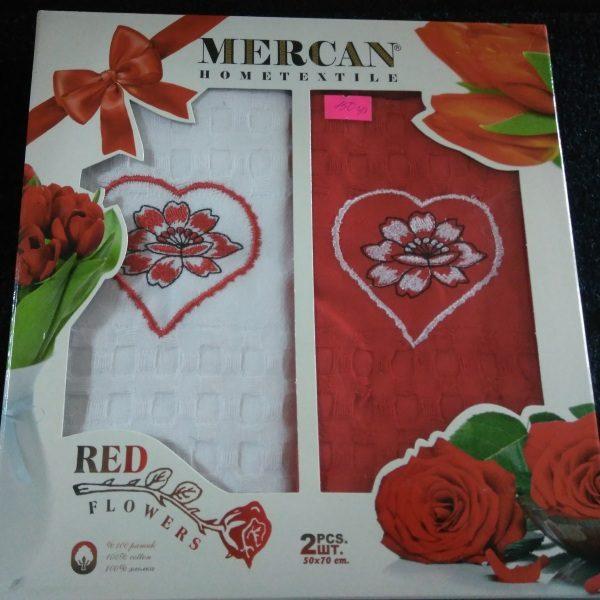 Набор кухонных полотенец Mercan Цветы