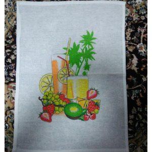 Вафельное кухонное полотенце Фрукты (30х50см)