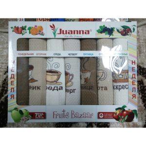 Набор кухонных полотенец Juanna Coffe Неделька