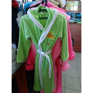 Детский халат велюр салатовый на 11-12лет