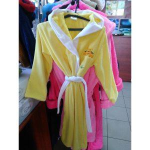 Детский халат велюр жёлтый на 13-14лет