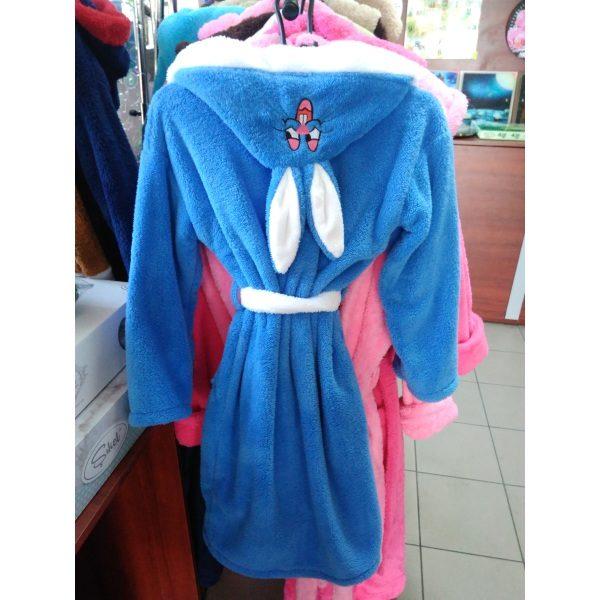 Детский халат Софт голубой на 10-12лет