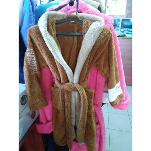Детский халат America Софт коричневый на 6-8лет