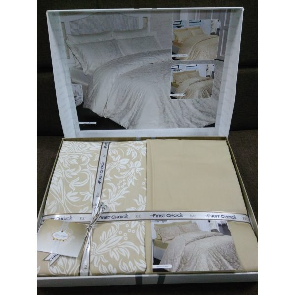 Постель Vanessa Camel Сатин 200х220см First Choice