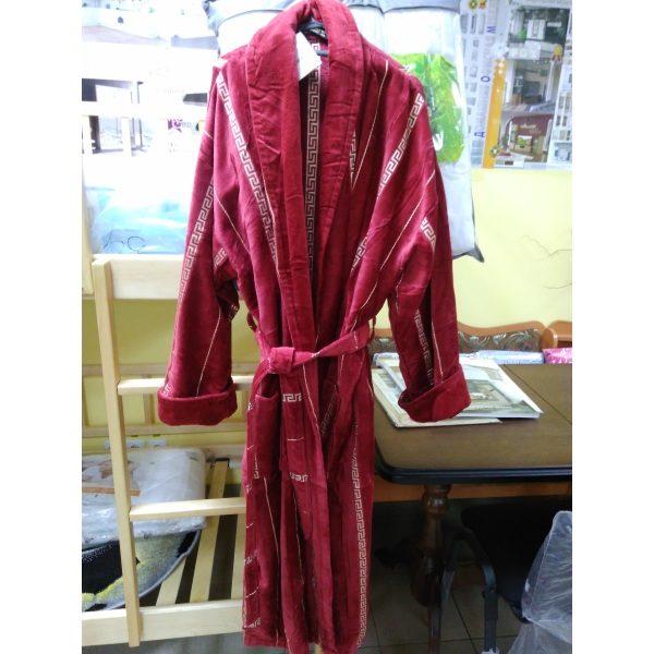 Мужской халат велюр Alchera 3XL (c воротником)