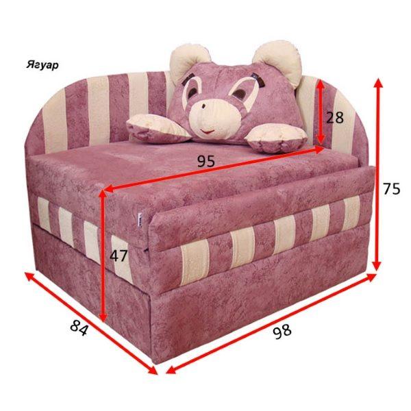 Детский диван малютка Панда
