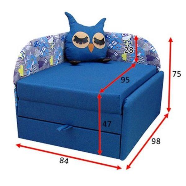 Детский диван малютка Сова