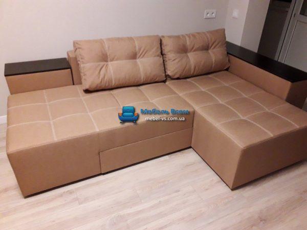 Угловой поворотный диван Бавария фото