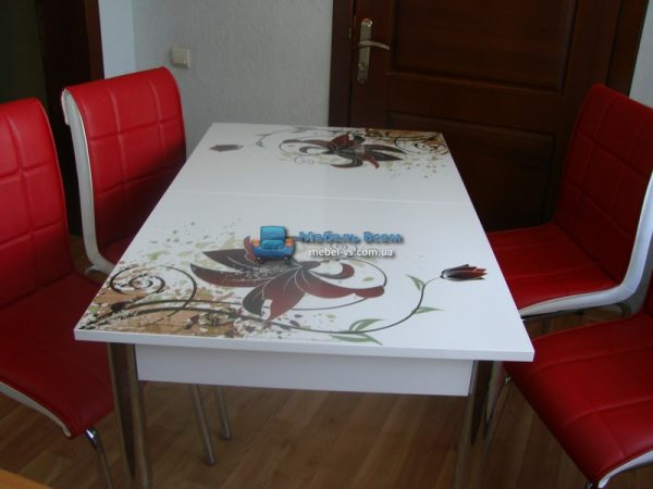 Стол + 4 стула Лотос SK CB-132 60x90-150 фото