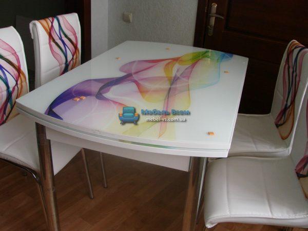 Стол + 4 стула Лотос SK OCB-005 75x120-180 фото