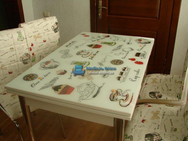 Стол + 4 стула Лотос SK CB-025 70x110-170 фото