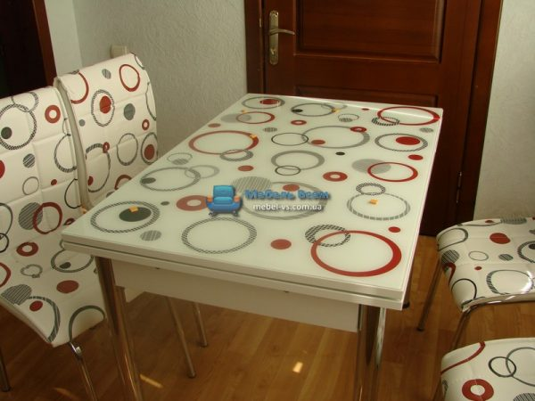 Стол + 4 стула Лотос SK CB-131 60x90-150 фото