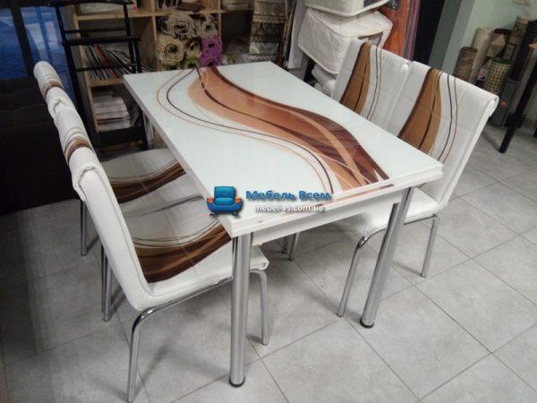 Стол + 4 стула Лотос NK CB-018 70x110-170 фото