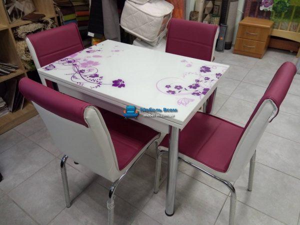 Стол + 4 стула Лотос SK CB-129 60x90-150
