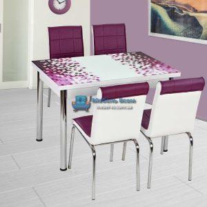 Стол + 4 стула Лотос NK CB-001 70x110-170