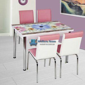 Стол + 4 стула Лотос NK CB-002 70x110-170