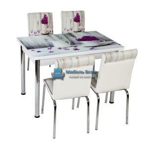 Стол + 4 стула Лотос NK CB-008 70x110-170