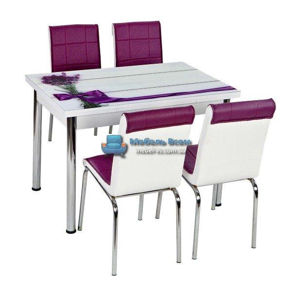 Стол + 4 стула Лотос NK CB-010 70x110-170