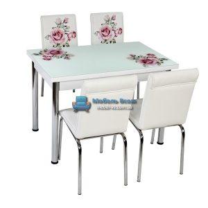 Стол + 4 стула Лотос NK CB-011 70x110-170
