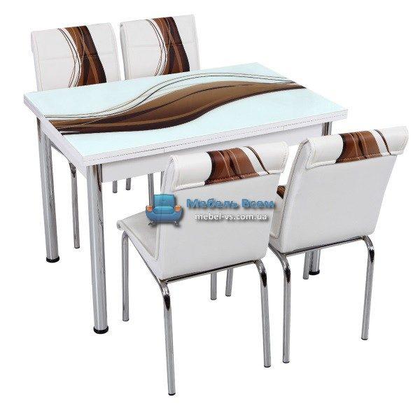 Стол + 4 стула Лотос NK CB-018 70x110-170