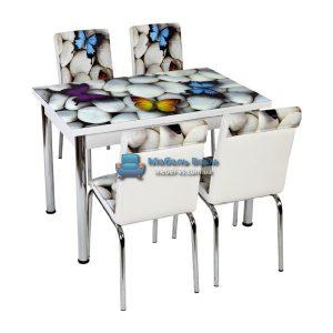 Стол + 4 стула Лотос NK CB-023 70x110-170