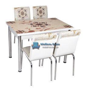 Стол + 4 стула Лотос NK CB-033 70x110-170