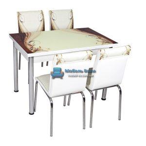 Стол + 4 стула Лотос NK CB-034 70x110-170