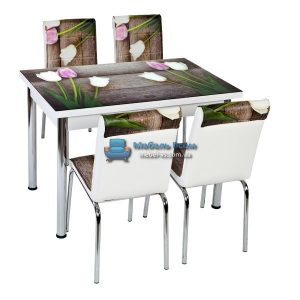 Стол + 4 стула Лотос NK CB-042 70x110-170