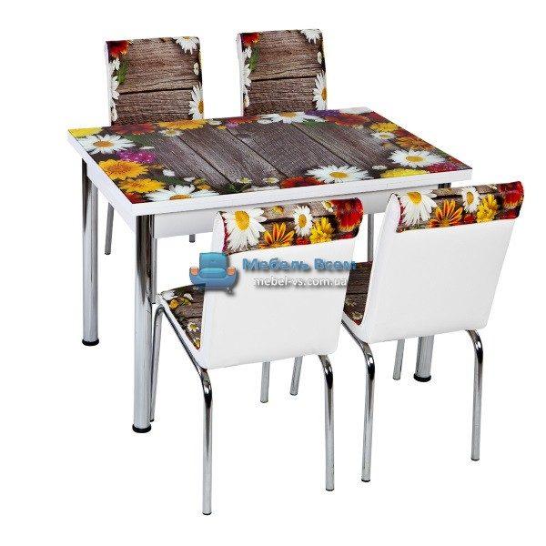 Стол + 4 стула Лотос NK CB-043 70x110-170