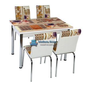 Стол + 4 стула Лотос NK CB-046 70x110-170
