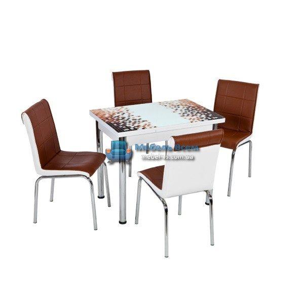 Стол + 4 стула Лотос NK CB-099 60x90-150